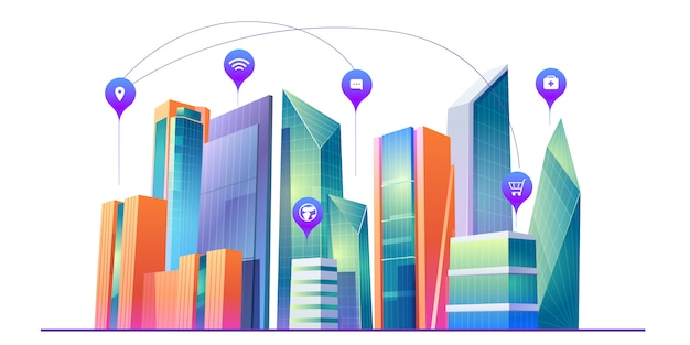 Smart city with wireless communication technology