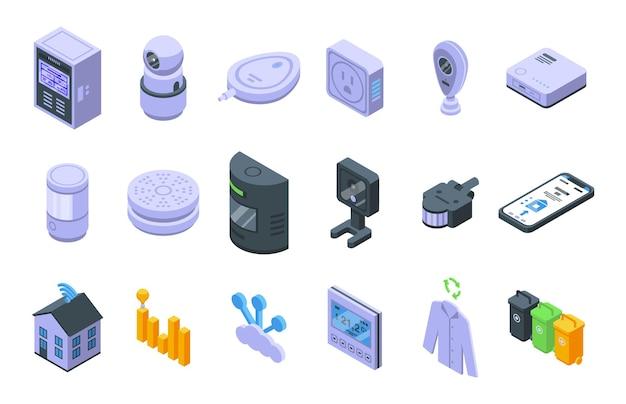 Умный набор потребления. изометрические набор интеллектуального потребления для веб-дизайна на белом фоне