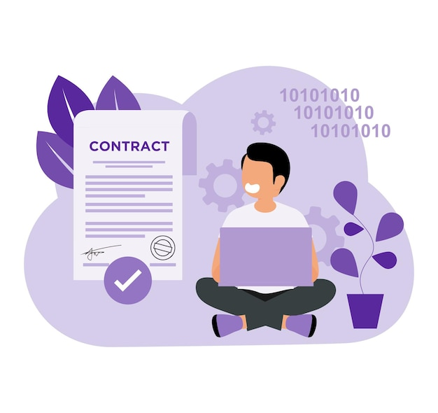 Smart contract coding deals in flat concept