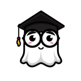 똑똑하고 귀여운 유령 만화 디자인