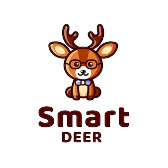 Smart deer kid logo