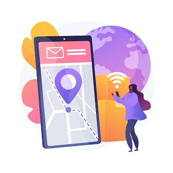Smart delivery tracking abstract concept illustration