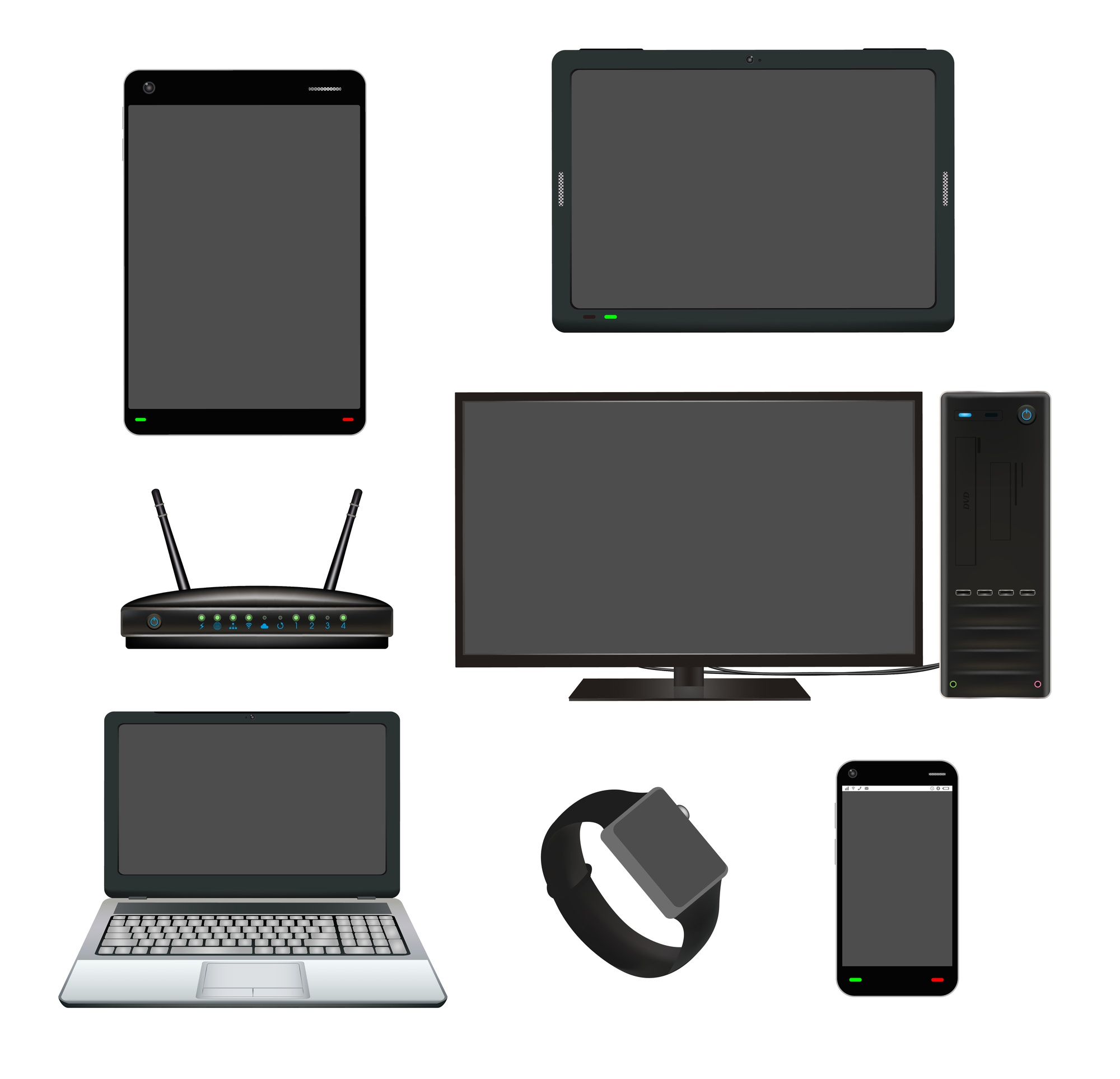 Smart device computer router set