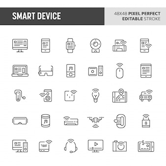Smart device  icon set