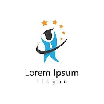Умное образование дизайн логотипа векторные иллюстрации