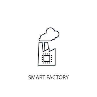 Smart factory concept line icon. simple element illustration. smart factory concept outline symbol design. can be used for web and mobile ui/ux