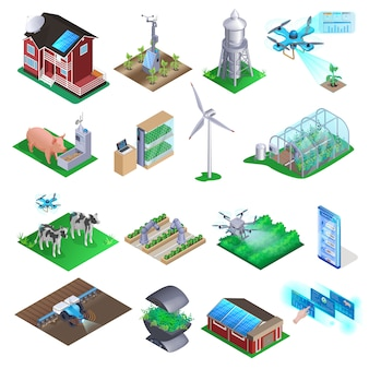 Набор элементов smart farm.