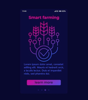 Smart farming and agriculture technology banner design