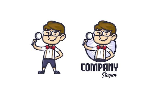 Smart geek cartoon