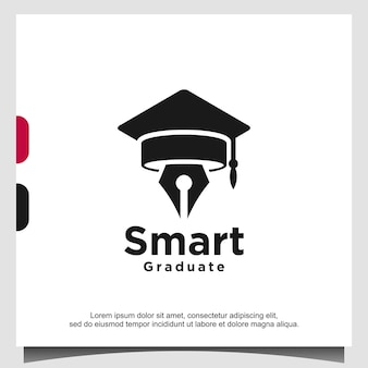 스마트 대학원 교육 로고 템플릿