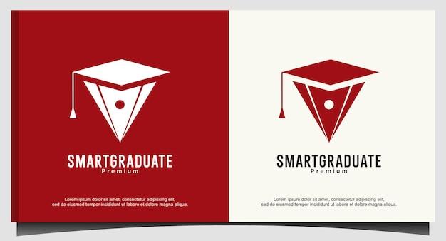 교육 로고 디자인을 위한 스마트 졸업생