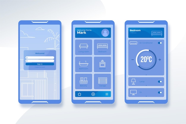 스마트 홈 앱 컨셉
