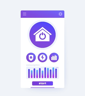 Smart home app interface, mobile ui design
