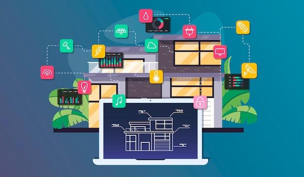 スマートホームオートメーションとモノのインターネット