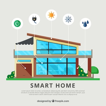 Smart home background with functions