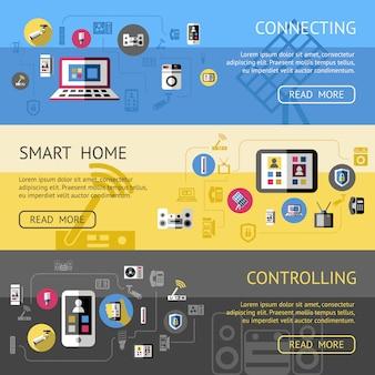 Set di banner casa intelligente