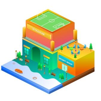 Smart home design isometric premium