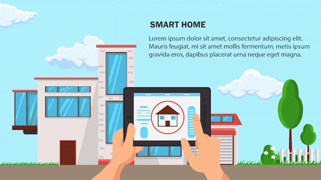 Smart home flat design vector illustration.