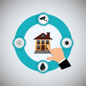 Smart home house icon set