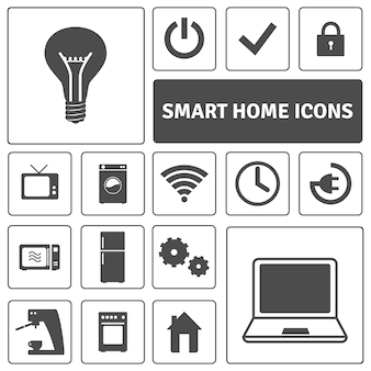 Smart home icons set