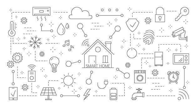 Smart home icons set.