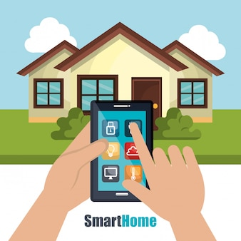 Smart home illustration