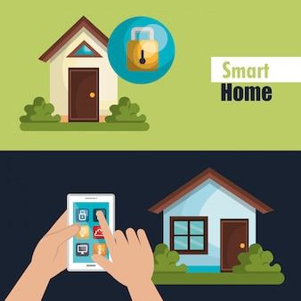 Smart home illustration