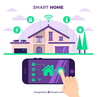 Smart home in flat style