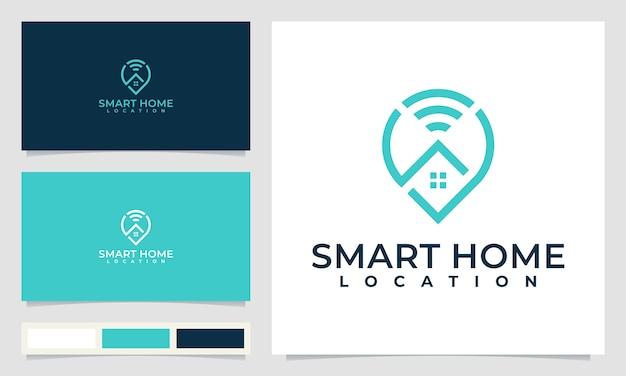 Smart home location logo design
