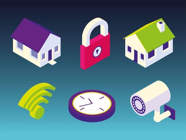 스마트 홈 보안 디지털 세트