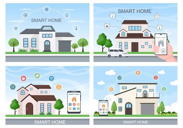 Smart home technology vector