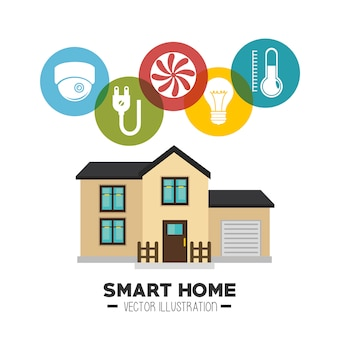 스마트 하우스와 그 응용 프로그램 격리 된 아이콘