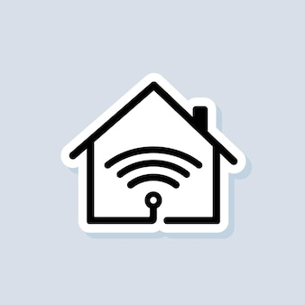 Smart house logo. smart house icon. home automation. the concept of a home system with wireless centralized control. vector on isolated background. eps 10.