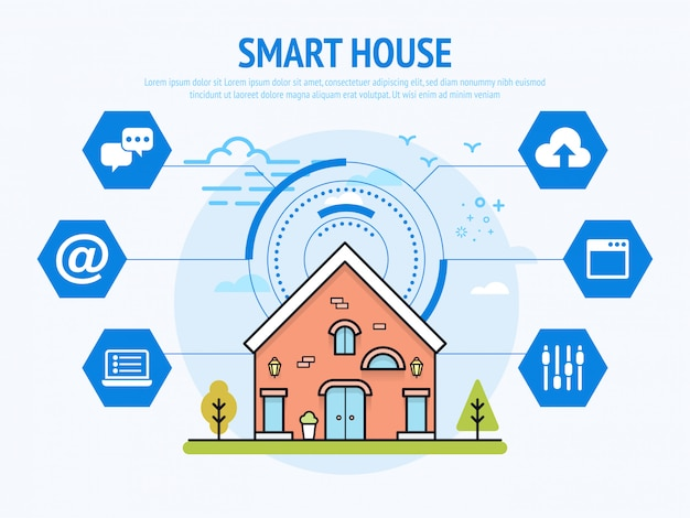 Smart house technology of home automation concept