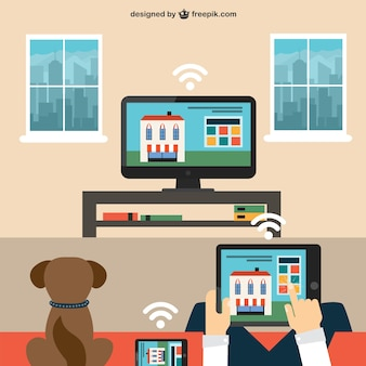 Smart house Free Vector