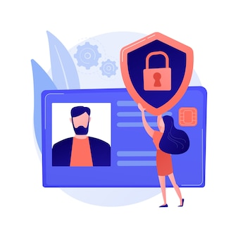 Illustrazione di concetto astratto della carta d'identità intelligente