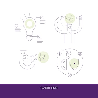 Smart idea icons
