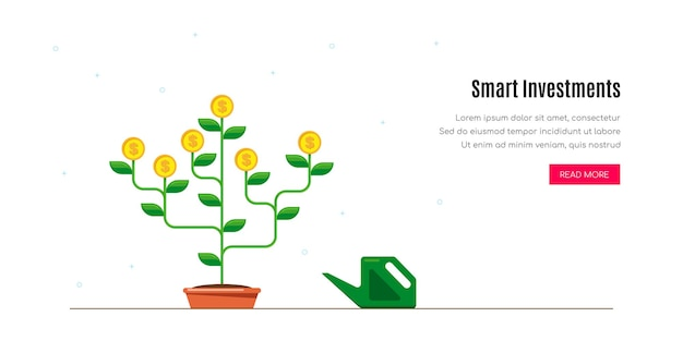 Умная инвестиционная концепция. денежное дерево