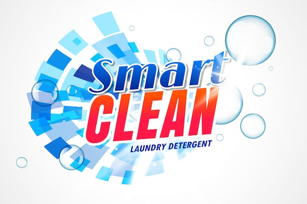 Smart laundry detergent packaging template