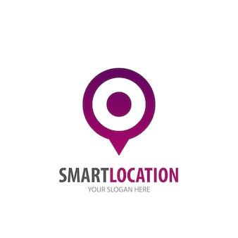 Smart location logo for business company. simple smart location logotype idea design. corporate identity concept. creative smart location icon from accessories collection.