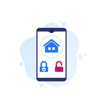 Smart lock mobile app, vector design