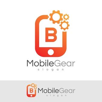 スマートモバイルの初期の手紙bロゴデザイン