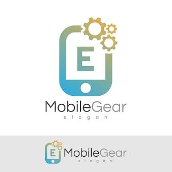 スマートモバイルの初期の手紙eロゴデザイン