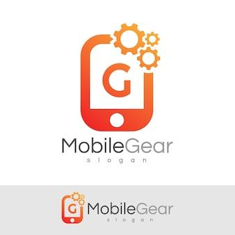 スマートモバイルの初期の手紙gロゴデザイン