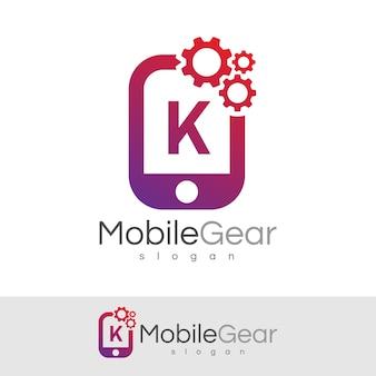 スマートモバイルの初期の手紙kロゴデザイン