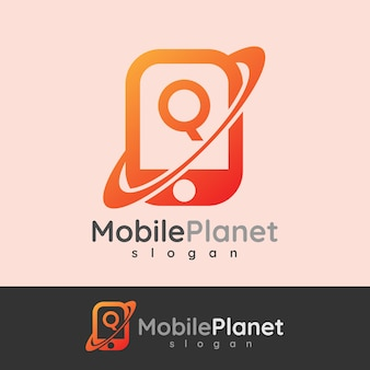 Smart mobileの初期の手紙qロゴデザイン