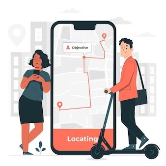 Иллюстрация концепции умной мобильности
