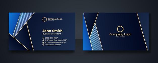 Умная современная визитная карточка, векторные иллюстрации, темно-синий фон