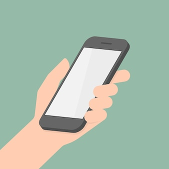 Smart phone in hand.