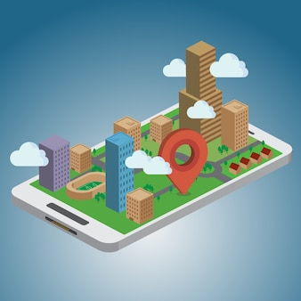 Smart phone navigation - gps concept